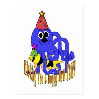 Año Nuevo azul profundo Tarjetas Postales