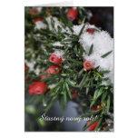 Año Nuevo checo de la nieve roja de las bayas Felicitación