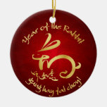 Año Nuevo chino - 2011 años del conejo Ornamento Para Reyes Magos