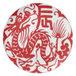 Año Nuevo chino 2012 Plato De Comida