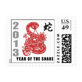 Año Nuevo chino 2013 - año de la serpiente Franqueo