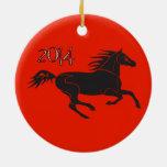 Año Nuevo chino 2014 años del ornamento del caball Ornamentos Para Reyes Magos