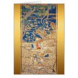 Año Nuevo chino 2015 - tapicería china 1 de las Tarjetón