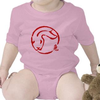 Año Nuevo chino abstracto del conejo Traje De Bebé