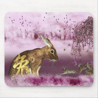 Año Nuevo chino - año de conejo/de liebres Mousepa Mouse Pads