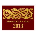 Año Nuevo chino - año de la postal 2013 de la serp