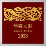 Año Nuevo chino - año de la serpiente 2013 Impresiones