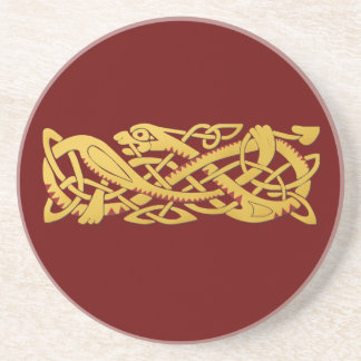 Año Nuevo chino - año de la serpiente 2013 Posavasos Diseño
