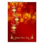 Año Nuevo chino - año de la serpiente con las Tarjetas