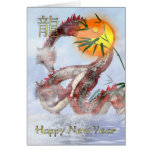 Año Nuevo chino - año del dragón - 2012 Tarjeta De Felicitación