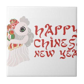 Año Nuevo chino Azulejo Cuadrado Pequeño