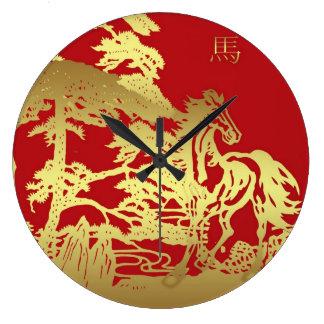Año Nuevo chino, caballo, reloj de pared