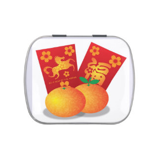 Año Nuevo chino de la mandarina del caballo Frascos De Caramelos