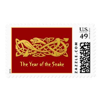 Año Nuevo chino de la serpiente Sello