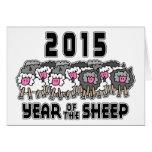Año Nuevo chino de las ovejas 2015 Tarjeta