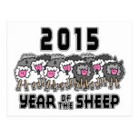 Año Nuevo chino de las ovejas 2015 Tarjeta Postal