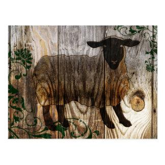 Año Nuevo chino de las ovejas de madera 2015 Tarjeta Postal