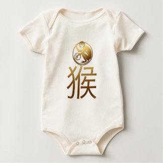 Año Nuevo chino del bebé 2016 del mono Mameluco De Bebé
