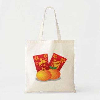 Año Nuevo chino del bolso de las mandarinas del ca Bolsas Lienzo