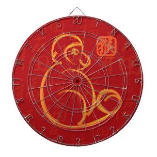 Año Nuevo chino del cepillo del oro del mono en el