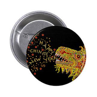Año Nuevo chino del CNY del dragón Pin Redondo De 2 Pulgadas