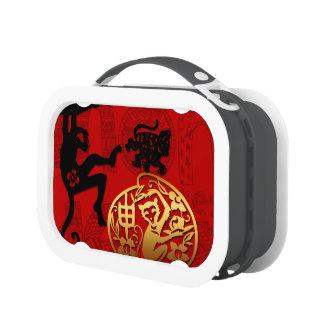 Año Nuevo chino del corte de papel del mono