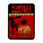 Año Nuevo chino del corte de papel del mono 2016 Imán Flexible