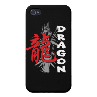 Año Nuevo chino del dragón iPhone 4/4S Funda