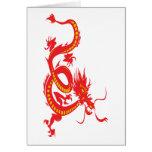 Año Nuevo chino del dragón rojo Tarjetón