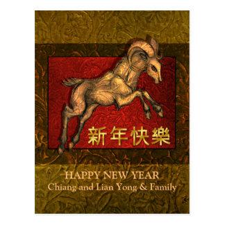 Año Nuevo chino del espolón 2015, saltando el Postal