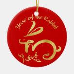 Año Nuevo chino del oro - 2011 años del conejo Ornatos
