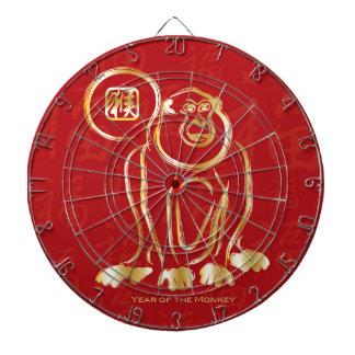 Año Nuevo chino del oro del mono en rojo