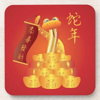 Año Nuevo chino del práctico de costa del corcho d Posavasos De Bebida