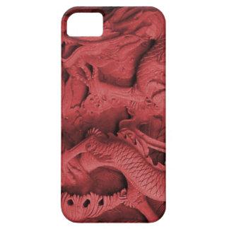 Año Nuevo chino, diseño tallado de la serpiente iPhone 5 Fundas