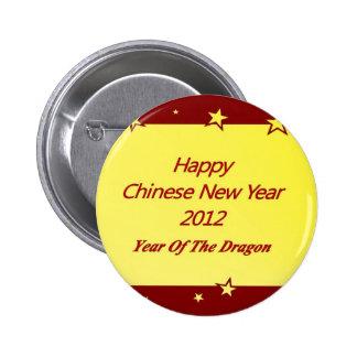 Año Nuevo chino feliz 2012 Pins