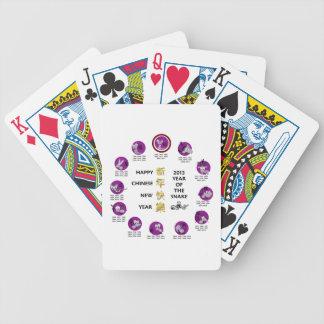 Año Nuevo chino feliz 2013 años de la serpiente Baraja Cartas De Poker