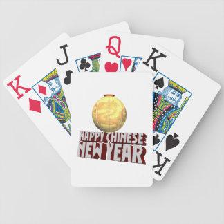 Año Nuevo chino feliz Baraja Cartas De Poker