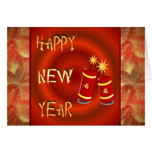 Año Nuevo chino feliz con el tet Vietnam de los Tarjeta De Felicitación