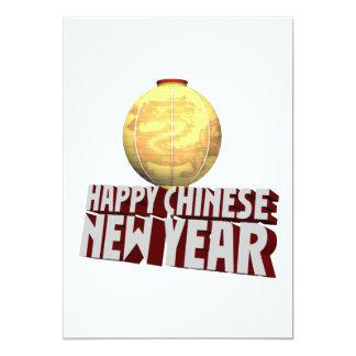 """Año Nuevo chino feliz Invitación 5"""" X 7"""""""