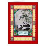 Año Nuevo chino, pandas Felicitación