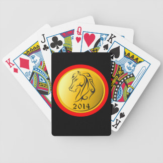 Año Nuevo chino - perfil 2014 del caballo Baraja Cartas De Poker