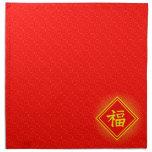 Año Nuevo chino • Símbolo afortunado de Fu • Rojo Servilleta De Papel