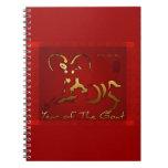Año Nuevo chino y vietnamita de la cabra de oro Libro De Apuntes