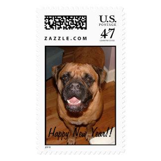Año Nuevo de Bullmastiff Timbres Postales