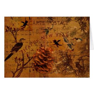 Año Nuevo de la canción del pájaro Tarjeta De Felicitación