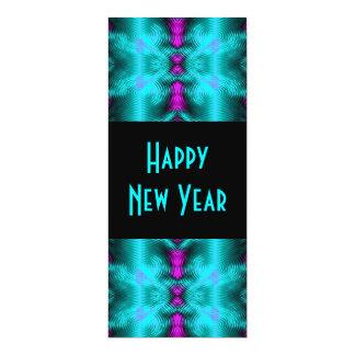 """Año Nuevo de la turquesa Invitación 4"""" X 9.25"""""""