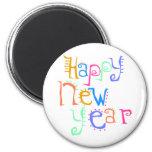 Año Nuevo de las camisetas de la Feliz Año Nuevo Imán Para Frigorifico