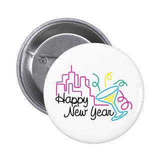 Año Nuevo de las camisetas de la Feliz Año Nuevo Pins