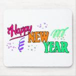 Año Nuevo de las camisetas de la Feliz Año Nuevo Alfombrillas De Raton