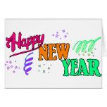 Año Nuevo de las camisetas de la Feliz Año Nuevo Tarjeton